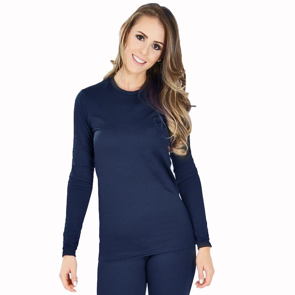 Blusa Térmica Feminina Segunda Pele - Azul Marinho