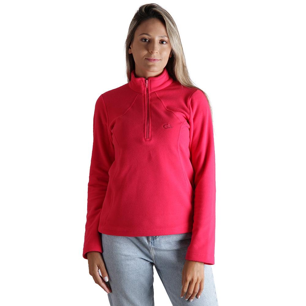 Fleece Térmico Feminino Meio Zíper - 2026 Rosa Pink